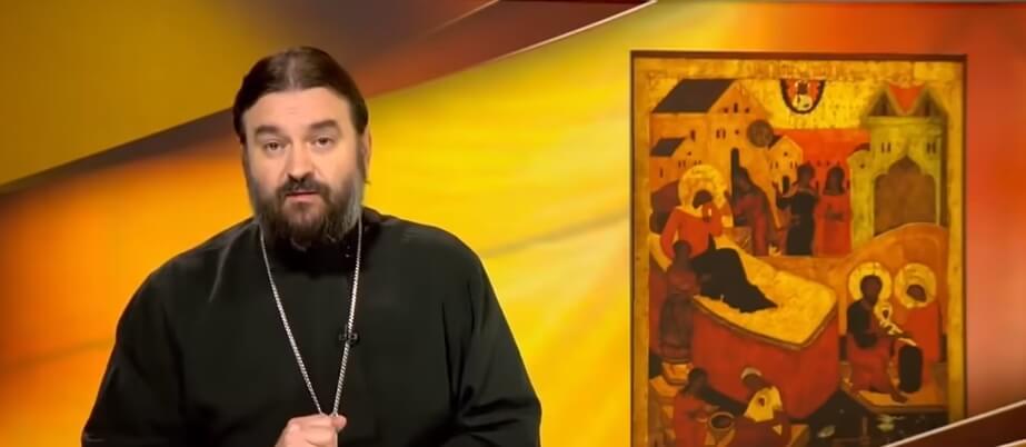 На фото изображен ротоиерей Андрей Ткачёв и икона.