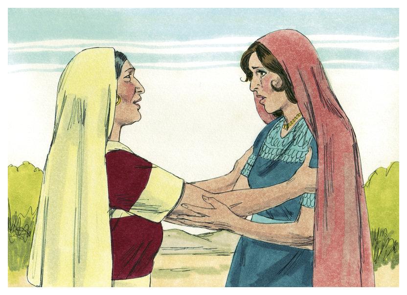 На фото изображены две женщины. Одна обнимает другую и за что-то благодарит.