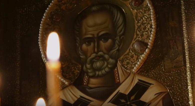 На фото Святой Николай Угодник.