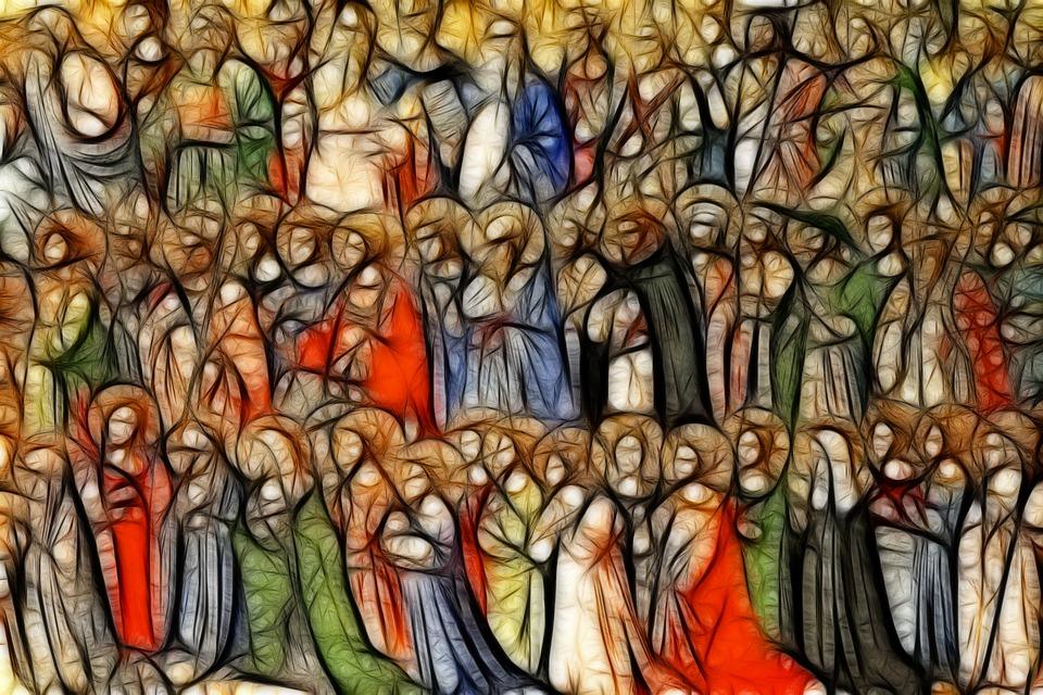 На фото изображены все святые, выложенные мозаикой.
