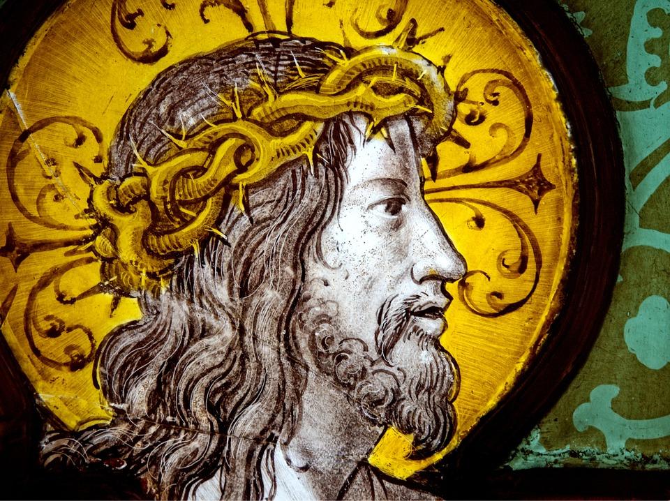 На изображении Иисус Христос в терновом венке.