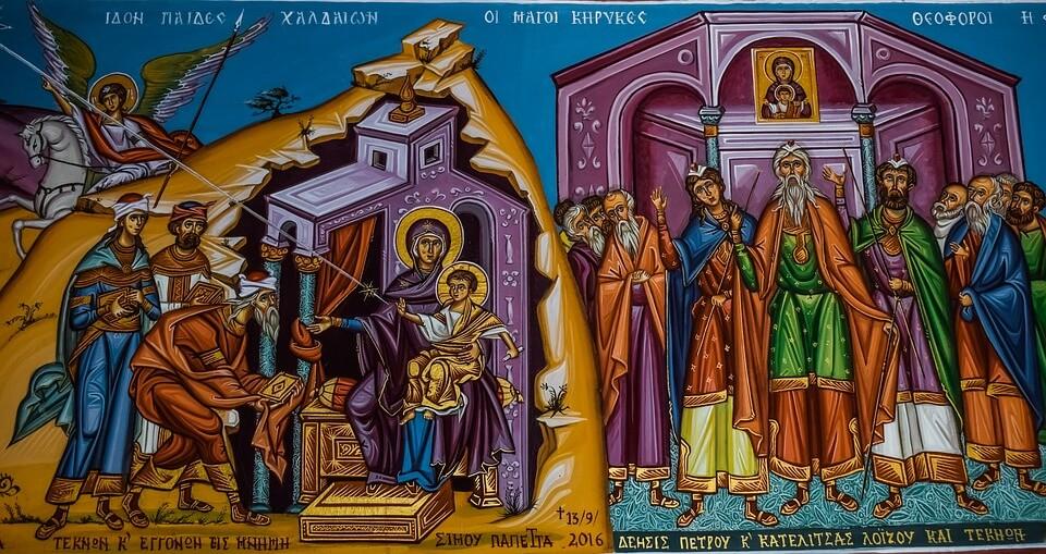 На фото изображена Богородица с Иисусом.