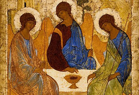 На фото изображена святая Троица.