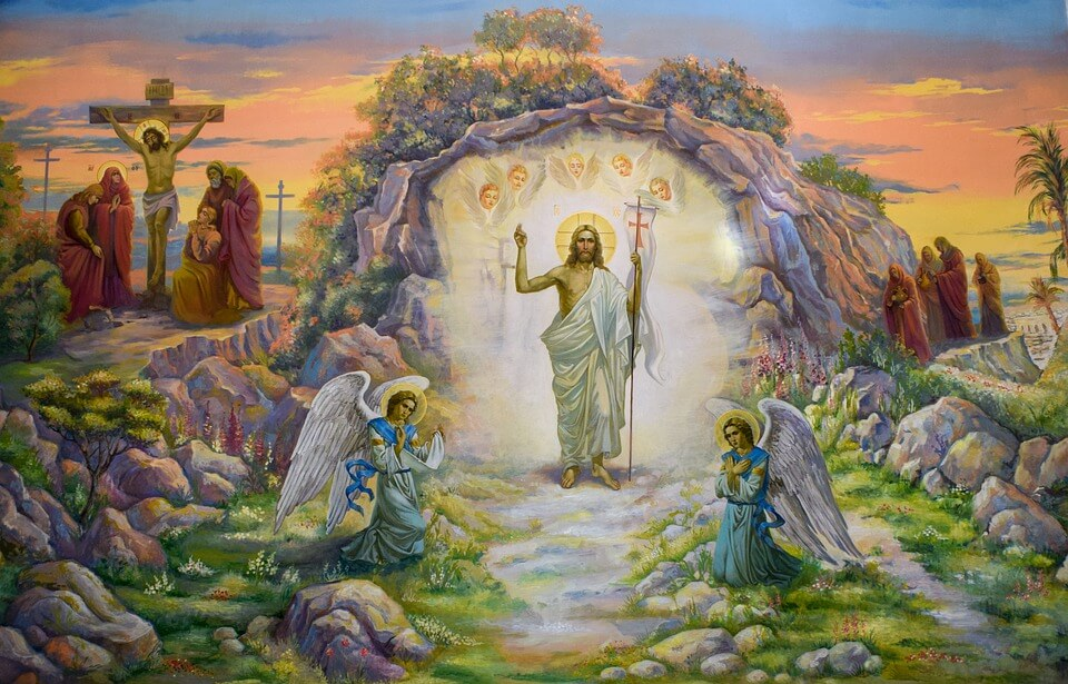 На фото изображена картина воскресения Иисуса Христа.