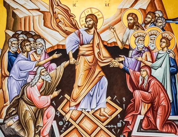 На фото изображен воскресший Иисус Христос.