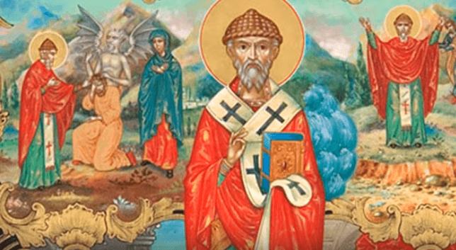 На фото изображен святой Спиридон Тримифунтский.