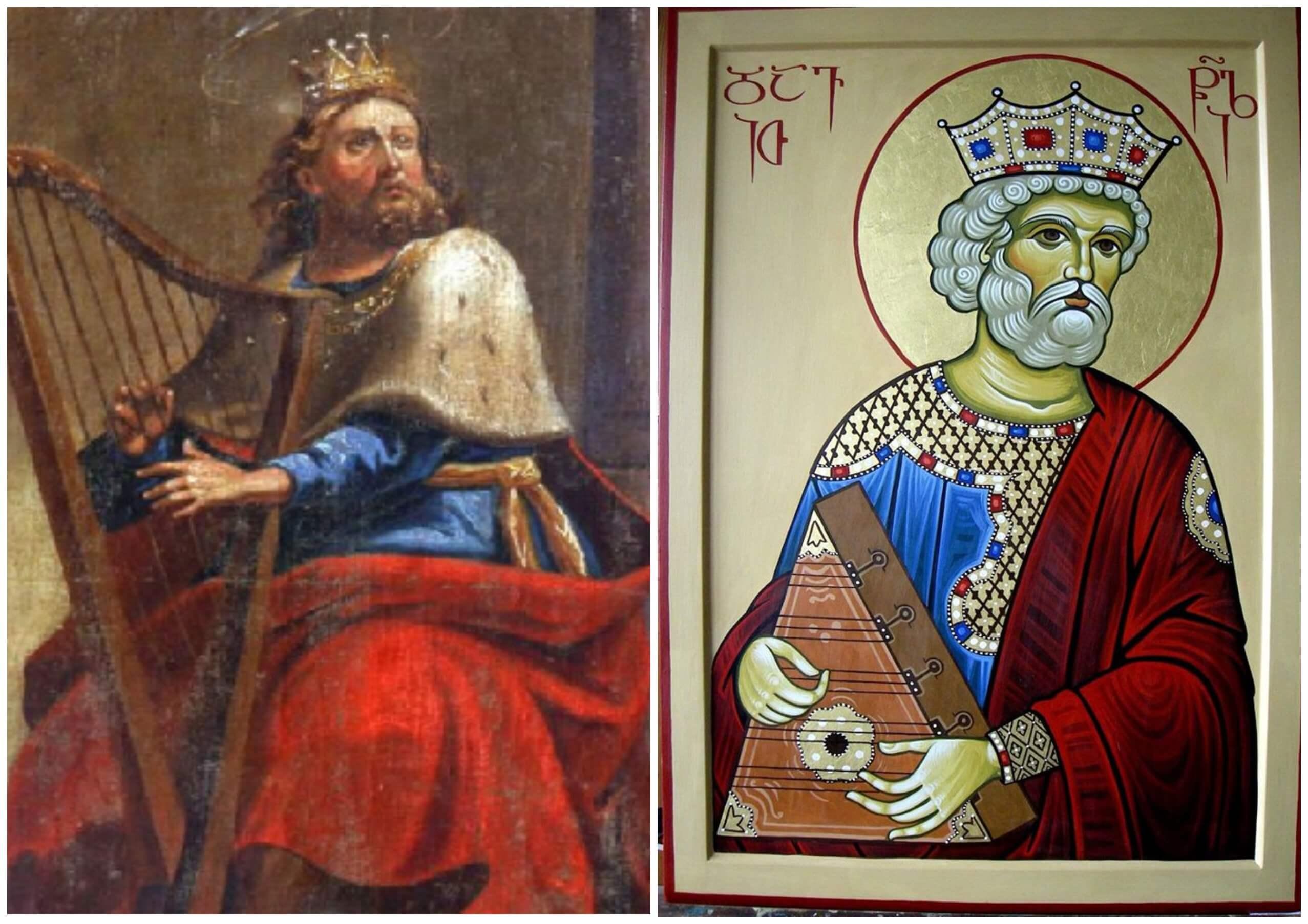 На фото изображен царь Давид пророк.