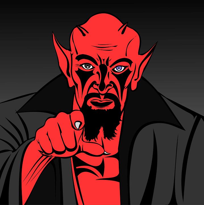 На фото изображен дьявол.