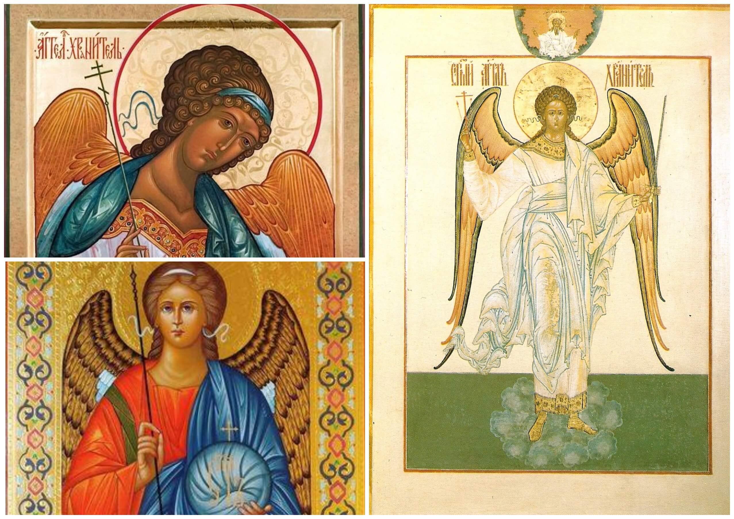 На фото изображены иконы Ангела Хранителя.