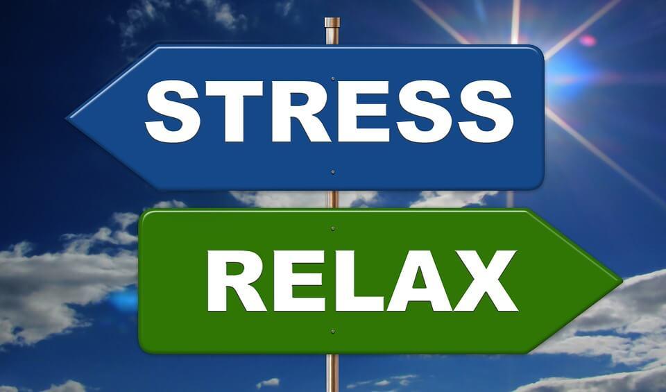 """На фото изображены два указателя """"Стресс"""" и """"Релакс""""."""