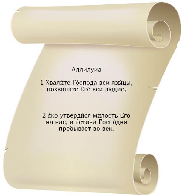 На фото изображен текст псалма 116 на церкновнославянском языке.