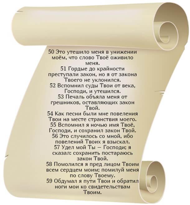 На фото изображен текст псалма 118 на русском языке (часть 6).