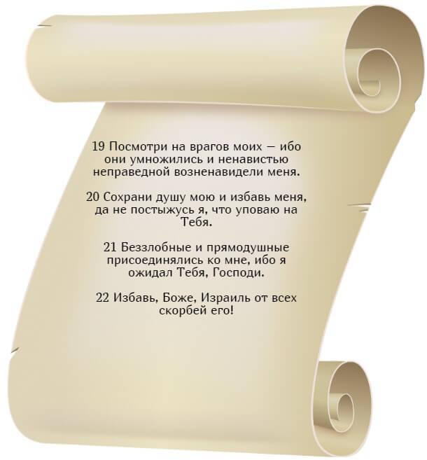 На фото изображен текст псалма 24 (часть 3) на русском языке.