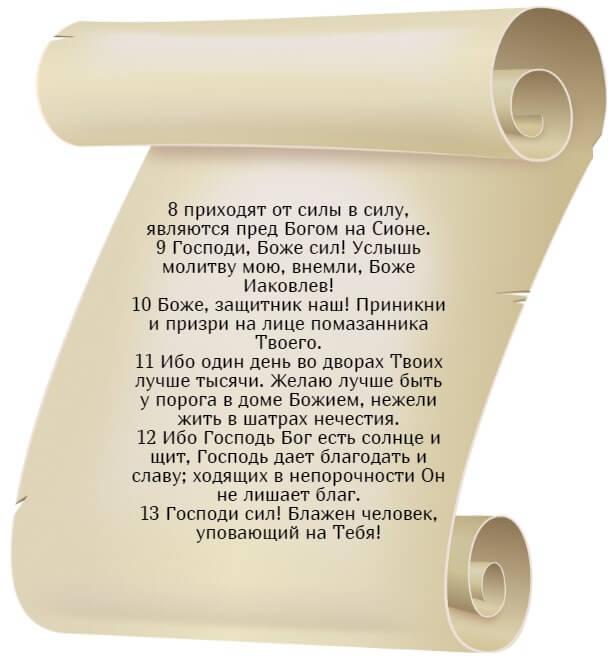 На фото изображен текст псалма 83 на русском языке (часть 2).
