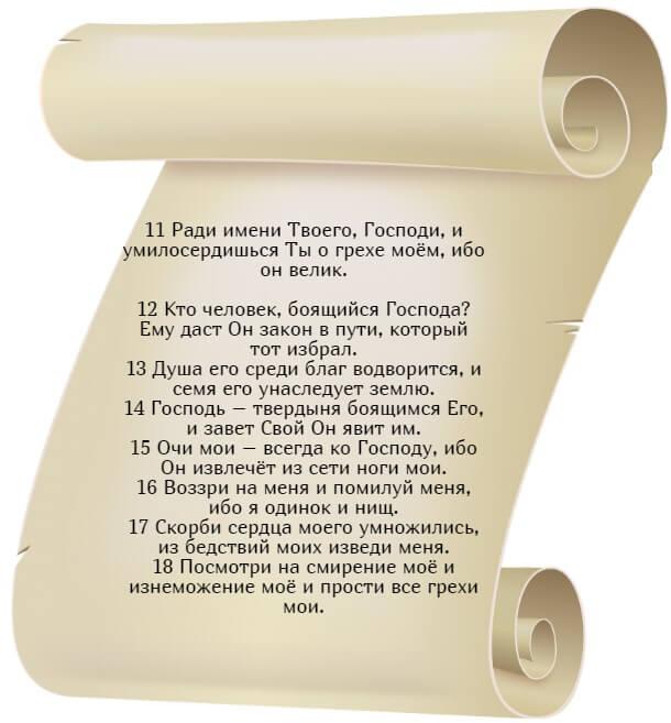 На фото изображен текст псалма 24 (часть 2) на русском языке.