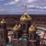 На фото изображен главный храм ВС России. Фото с квадракоптера.