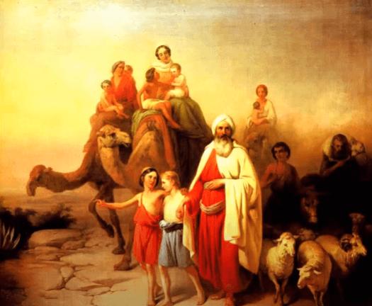 На фото изображена картина с Авраамом и его семьей.