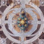 На фото изображен главный храм Вооруженных сил России. Вид сверху.