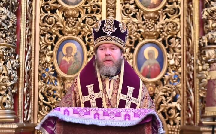 На фото изображен митрополит Тихон.