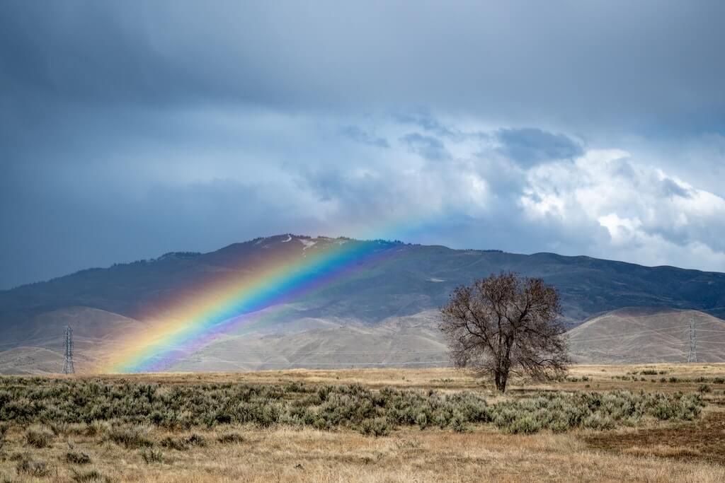 На фото изображена радуга.
