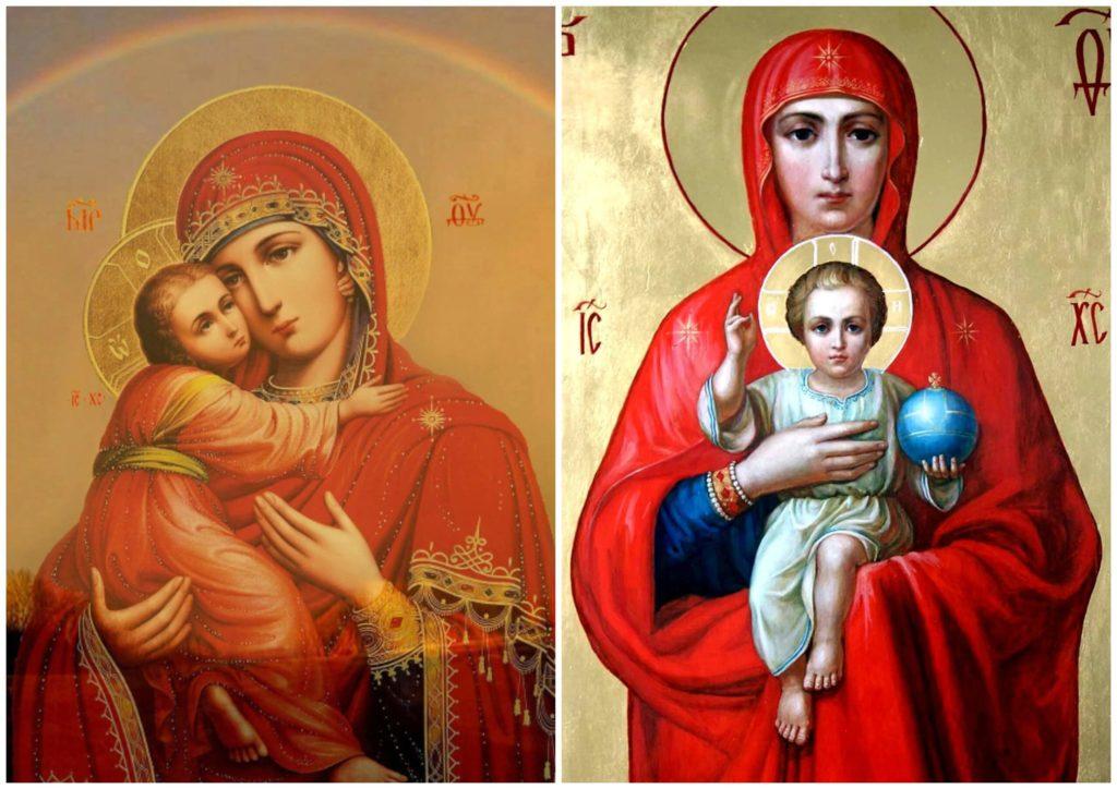 На фото изображена Пресвятая Богородица с Иисусом.