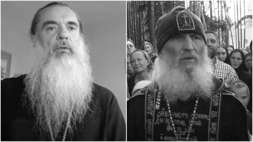 На фото отец Александр (слева) и схимонах Сергий (справа).