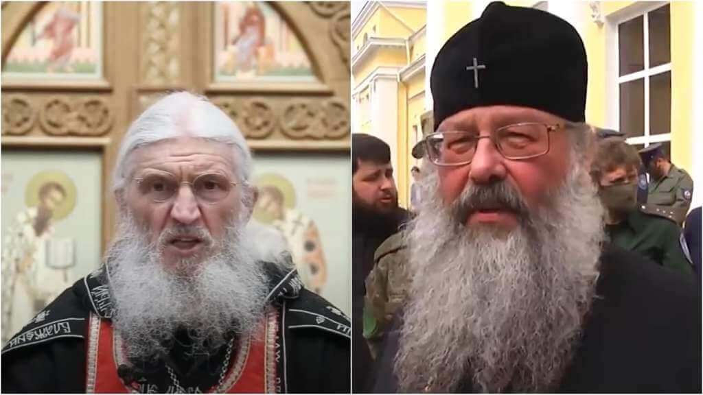 На фото схимонах Сергий (слева) и митрополит Екатеринбургский и Верхотурский Кирилл (справа).