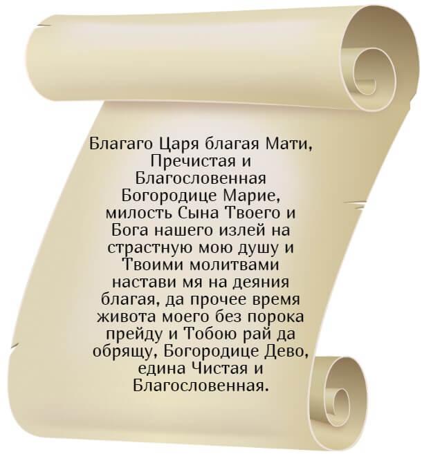 На фото текст молитвы ко Пресвятой Богородице.