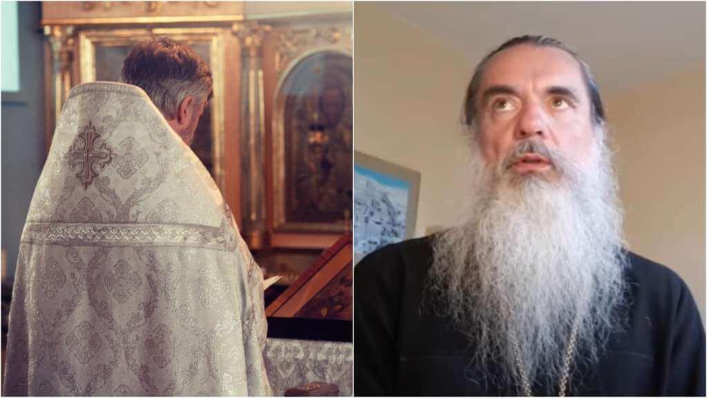 На фото изображен батюшка в церкви (слева) и священник Александр (справа).