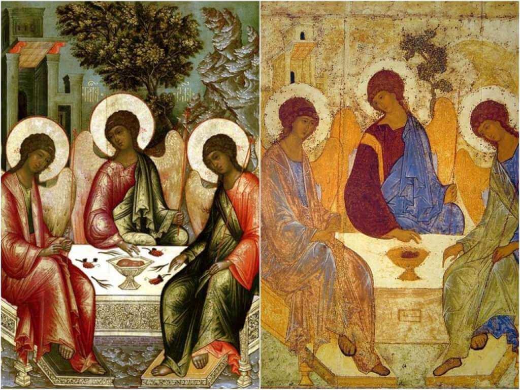 На фото икона Святой Троицы.