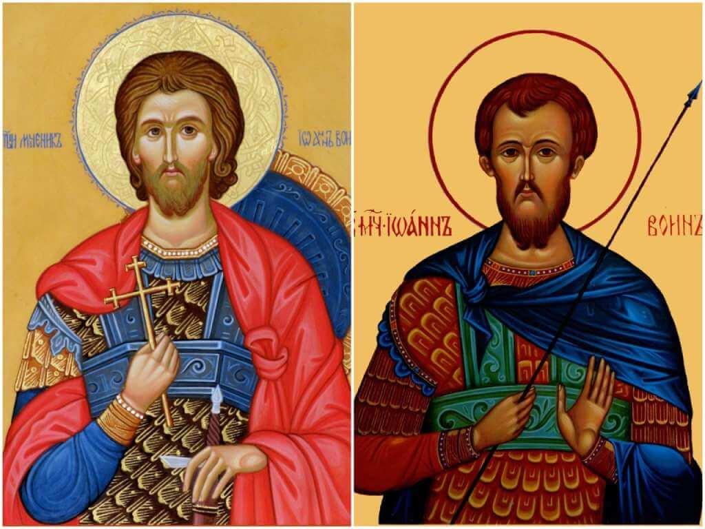 На фото изображены иконы Иоанну Воину.