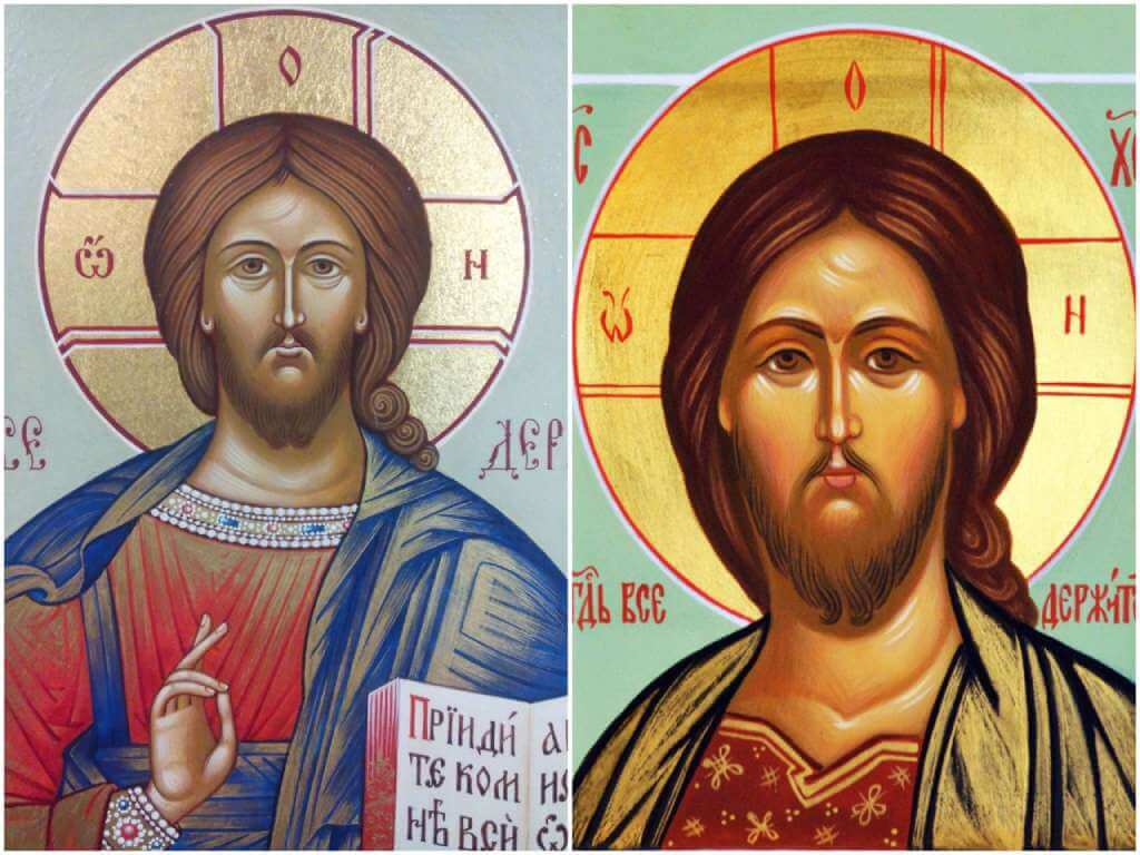 На фото иконы Господу.