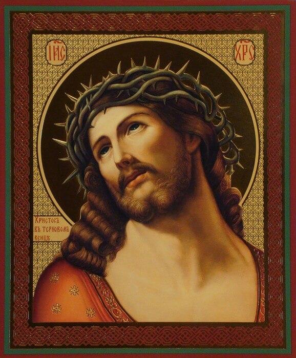 Икона Христос в терновом венце.