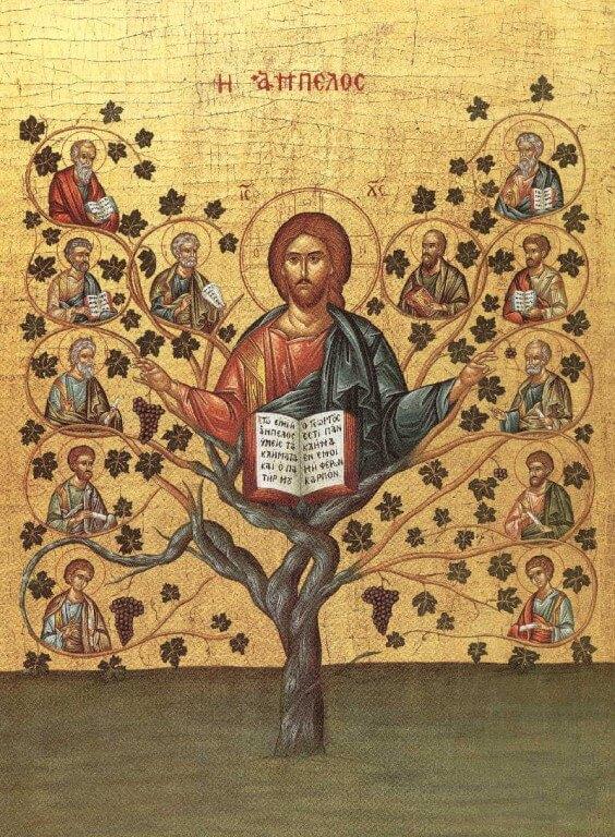 Икона Христос Виноградная лоза.