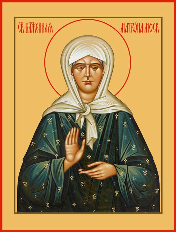 Икона блаженной Матроны Московской.