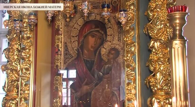 Иверская икона Божией Матери в храме.
